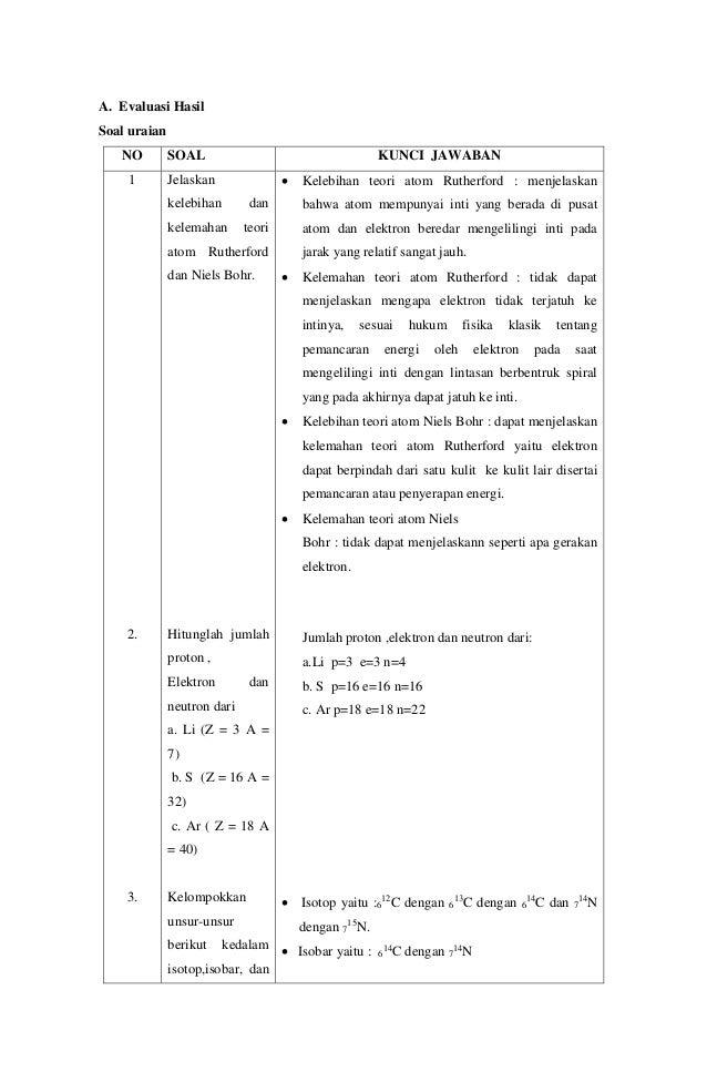 rpp kimia kelas x bab 2 struktur atom