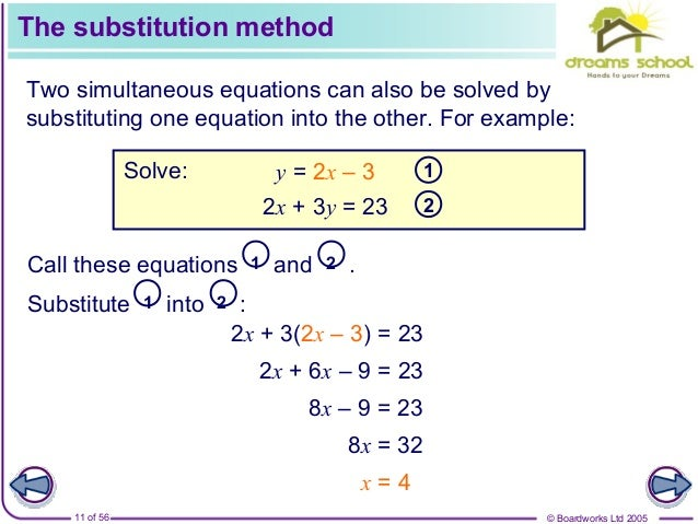 simultaneous equations homework help