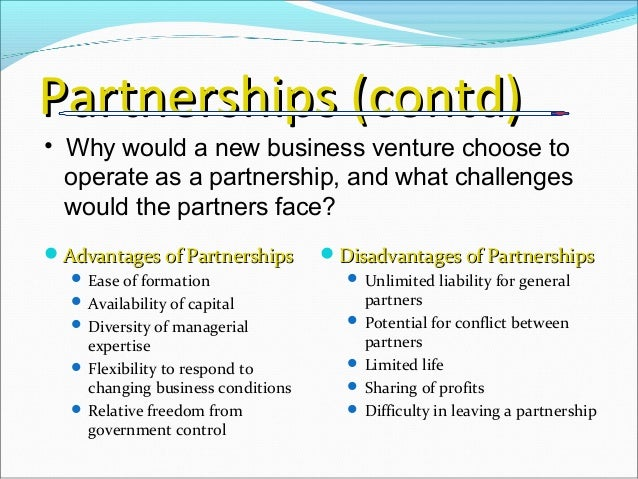 three main forms of business ownership