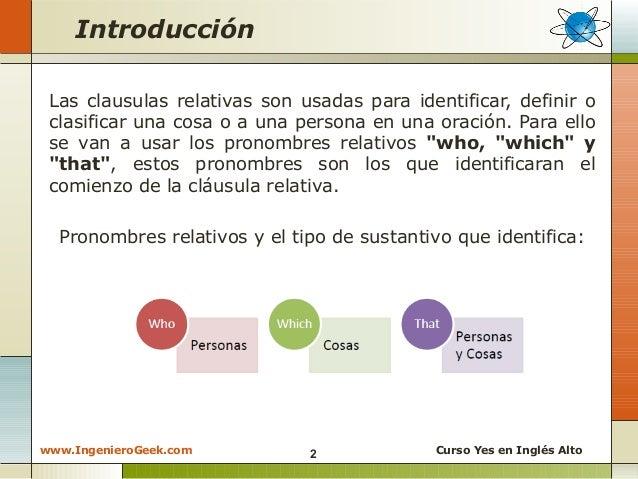 2 8 clausulas relativas de sujeto ejemplos con who for Que es una clausula