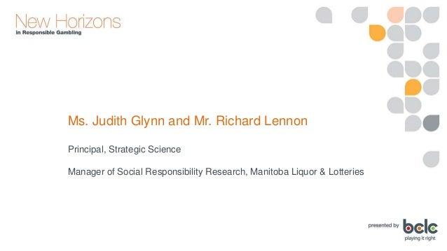 Judith Glynn and Richard Lennon: Integration of Responsible Advertising Standards for Gambling and Alcohol Slide 3