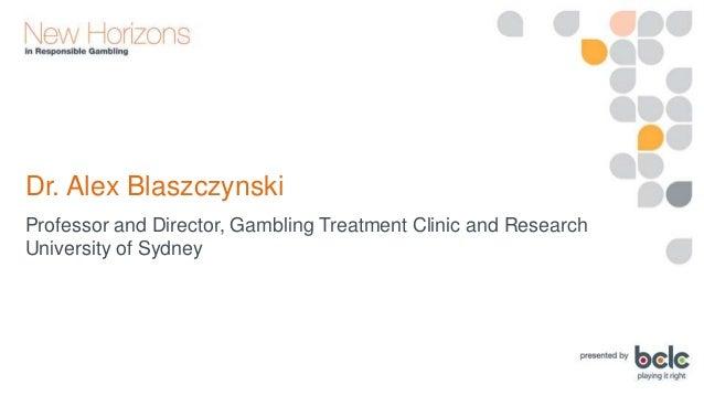 Dr. Alex Blaszczynski: Breaks in Play - An Irresponsible Strategy? Slide 3