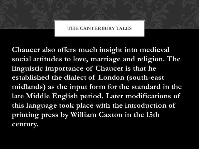 a literary analysis of attitudes of marriage in chaucers the canterbury tales Pdf downloads of all 721 litcharts literature  prologue in geoffrey chaucer's the canterbury tales check out our revolutionary side-by-side summary and analysis .