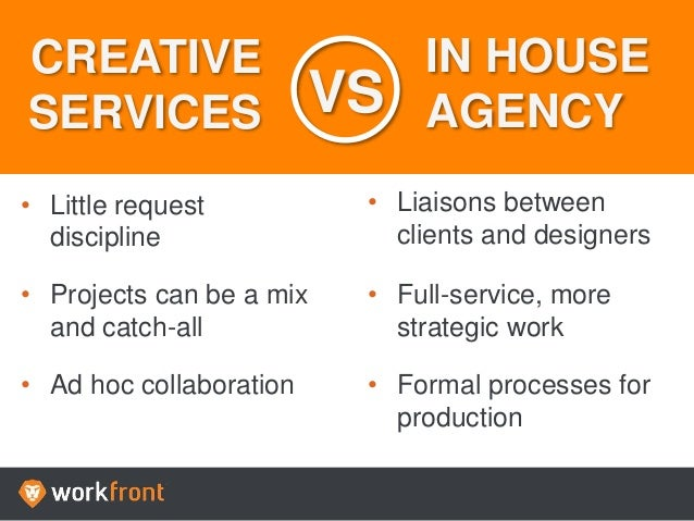 Creative Services vs. In House Agency