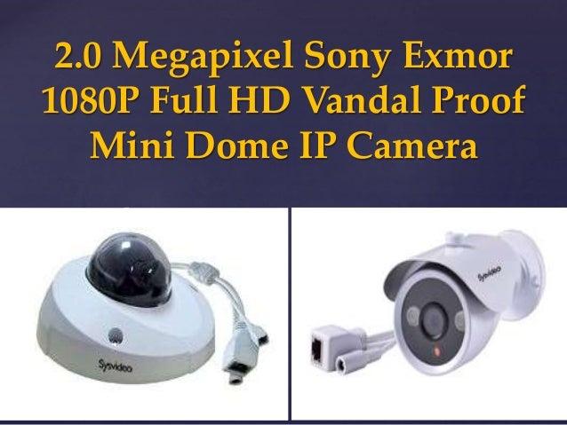 { 2.0 Megapixel Sony Exmor 1080P Full HD Vandal Proof Mini Dome IP Camera