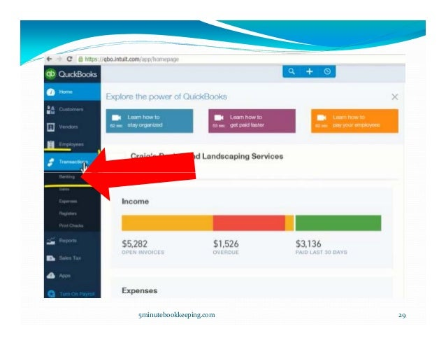 how to add bank account transactions to quickbooks