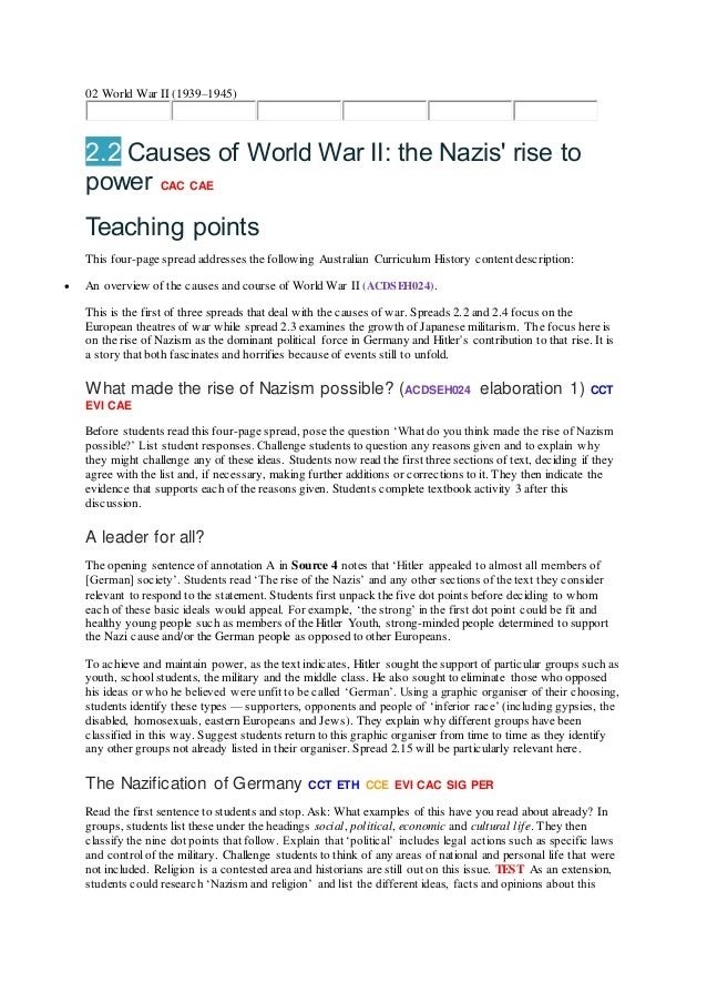 Ww1 essay questions