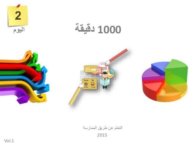 1000دقيقة الممارسة طريق عن التعلم 2015 2 اليوم Vol.1