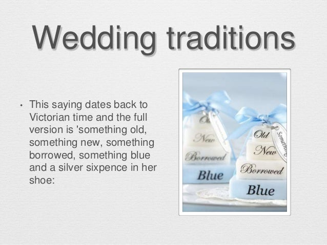 Weding traditions in Great Britain