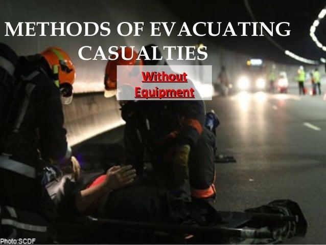 METHODS OF EVACUATING CASUALTIES WithoutWithout EquipmentEquipment