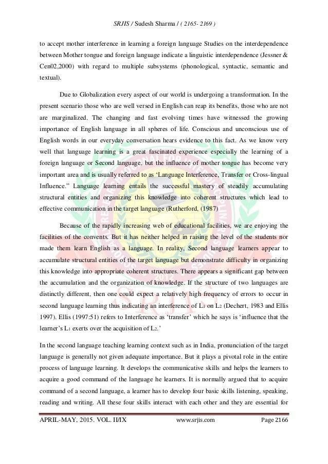 English Essay Books In Fact It Is Humanitarian Also Abstract  Reflective Essay Thesis also Informative Synthesis Essay Mother Tongue Influence On English Language Learning Good Science Essay Topics