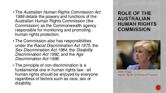 federal sex discrimination act australia in Ramsgate