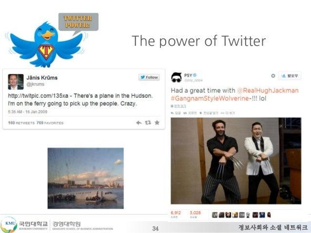 정보사회와 소셜 네트워크 The power of Twitter 34