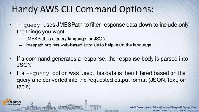 Aws cli query language