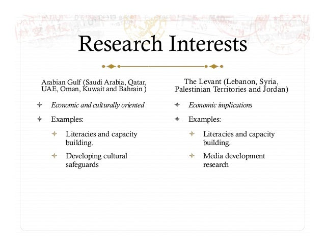 3. Research contexts: priorities, training and impact – Joe Khalil