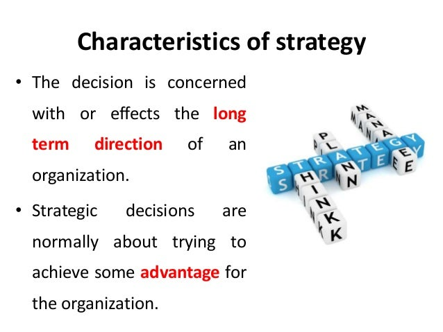 characteristics of strategic management ppt