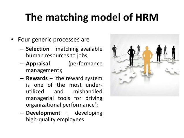 matching model hrm In economics, matching theory, also known as search and matching theory, is a mathematical framework attempting to describe the formation of mutually beneficial.