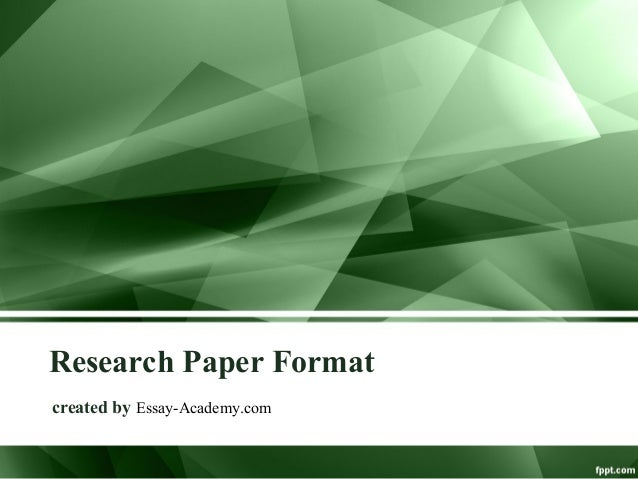 Research Paper Format created by Essay-Academy.com