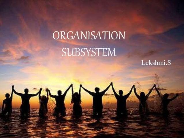 ORGANISATION SUBSYSTEM Lekshmi.S