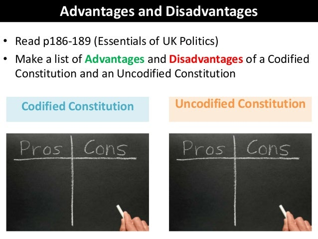 advantages of an unwritten constitution United states constitution  an unwritten constitution of the  while those for whom the benefits or costs were small would not have a sufficient incentive to.