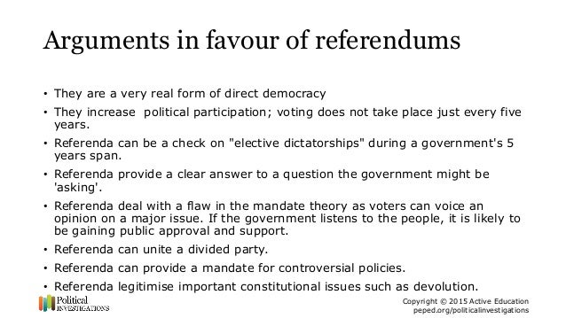referendums arguments for and against Debates that shaped the nation: federation fast facts  which would then write a constitution and put it back to the people at referendums  arguments against.
