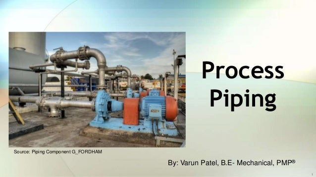 what is process piping