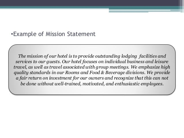vision statement for food business