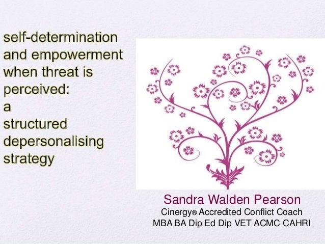 Sandra Walden Pearson Cinergy® Accredited Conflict Coach MBA BA Dip Ed Dip VET ACMC CAHRI