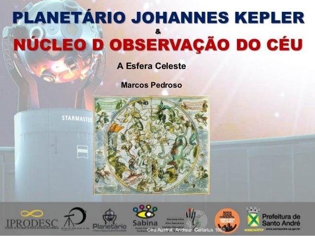 Céu Austral, Andreas Cellarius 1660 A Esfera Celeste Marcos Pedroso