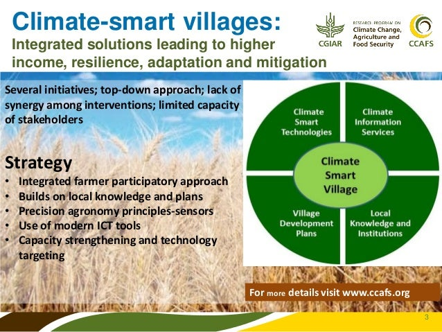 climate smart agriculture capturing the synergies Climate smart agriculture is a relatively new concept which was launched in 2009 advocating for better integration of adaptation and mitigation actions in agriculture to capture synergies between them and to support sustainable agricultural development for food security under climate change.
