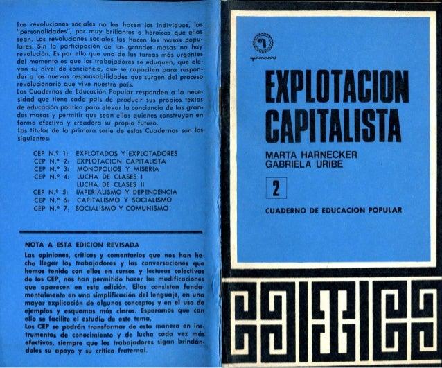 Explotación capitalista (48 páginas). AÑO: 1971. Publicado el 12 de julio de 2009