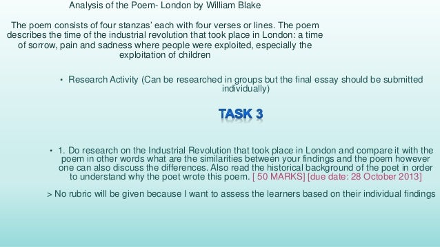 A marxist critique of london a poem by william blake