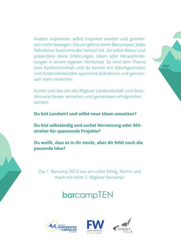 2. Allgäuer Barcamp - Veranstaltungsflyer (20.11.2015 in Kempten - www.barcamp-ten.de) Slide 2