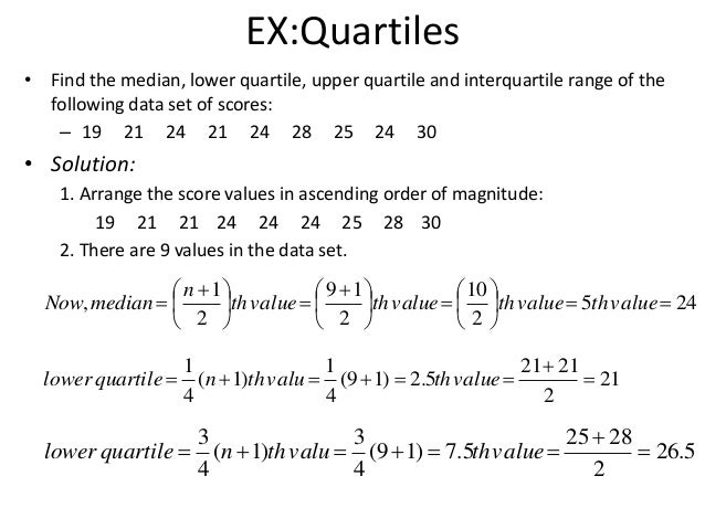 how to find the quartiles of a data set