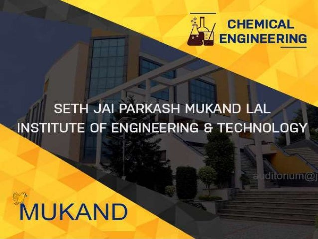 Chemical Engineering - JMIT