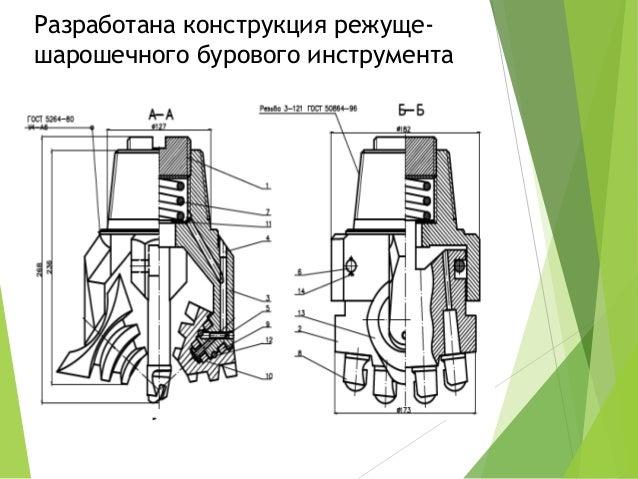 Разработана конструкция режуще- шарошечного бурового инструмента