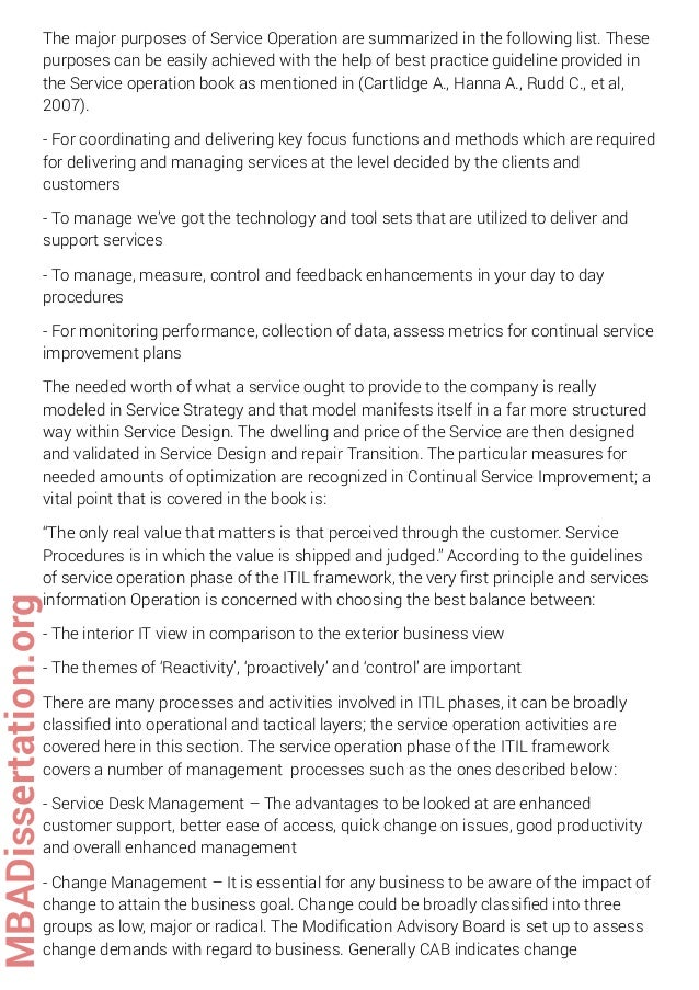 Dissertation on change management