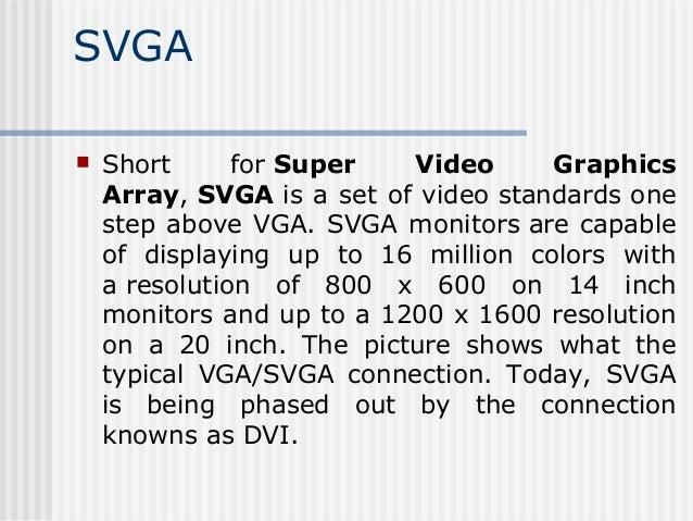 monitors,vga and svga