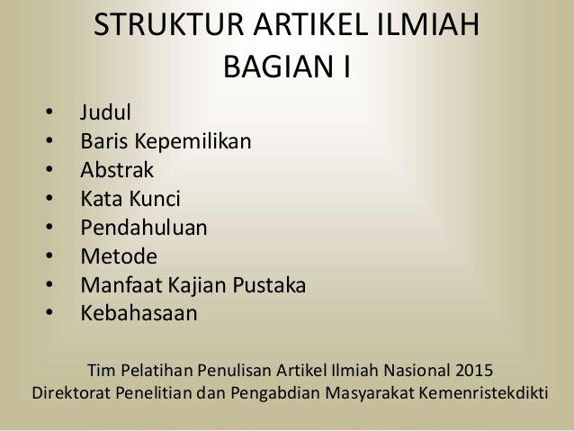 Struktur Artikel Ilmiah I
