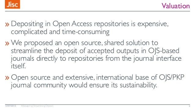 #dataspring: Streamlining Deposit Valuation »Depositing in Open Access repositories is expensive, complicated and time-con...