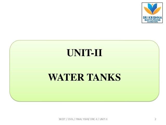 Introduction & under ground water tank problem Slide 2