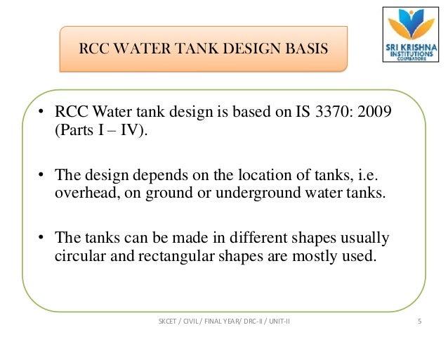 Introduction & under ground water tank problem