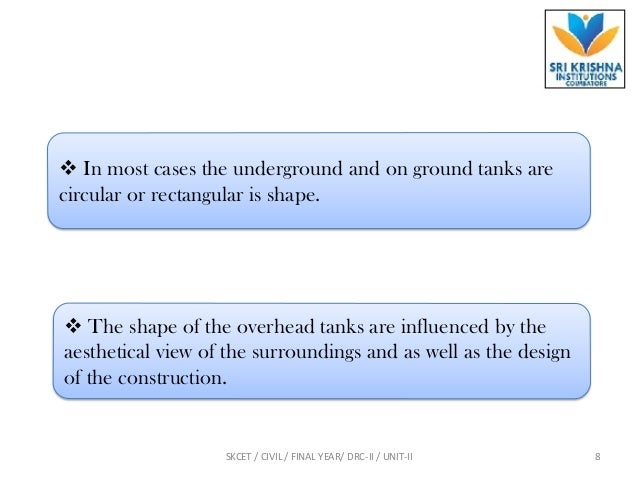 Introduction & under ground water tank problem