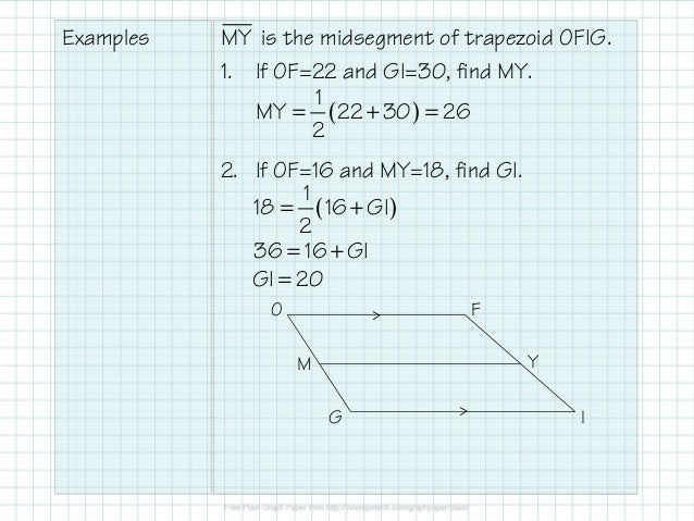 275 kites and trapezoids 9 examples is the midsegment of trapezoid ccuart Choice Image