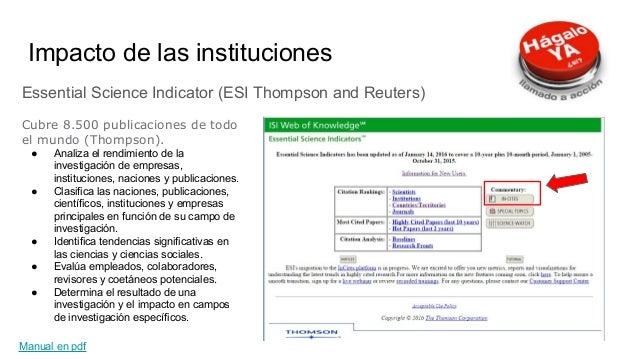Google Scholar Metrics (Metrics) Las revistas indexadas por Google Scholar, que hayan publicado un mínimo de 100 artículos...