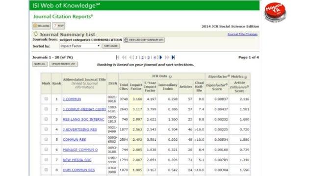 Métricas usadas para evaluar el impacto de la publicación La aparición de Scopus en 2004 obliga a WoS a competir y crea ba...