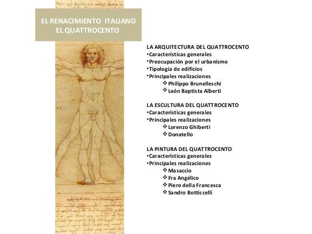 2 el renacimiento italiano el quattrocento Arquitectura quattrocento caracteristicas