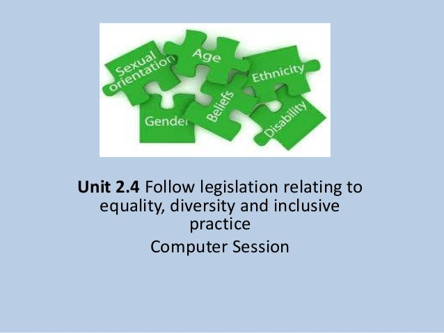 identify which legislation and codes of practice relating to equality diversity and discrimination a Equality and diversity is embedded within the organisation these objectives, covering the period from 2012 to 2016, set out what we want to achieve to tackle discrimination and promote fairness.