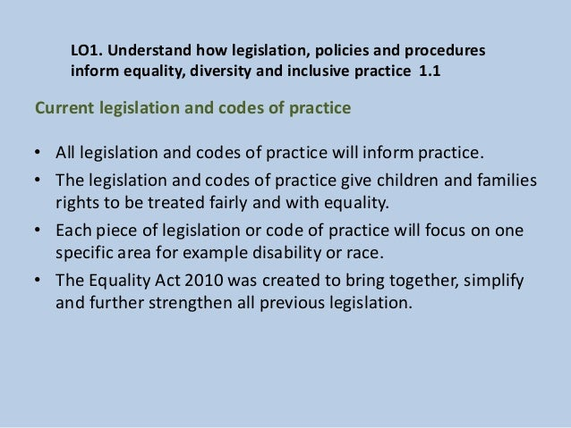 the race relations act equality diversity and rights essay Understand diversity, equality and inclusion in own are of responsibility cu2943 11 explain models of practice that underpin equality, diversity and inclusion in own area of responsibility equality is to treat all as individuals to respect race, disability, age, gender, religion, beliefs, culture and sexual orientation.