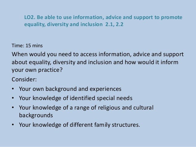 how to raise awareness of diversity equality and inclusion